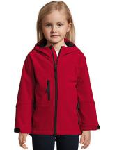 Kids` Hooded Softshell Jacke Replay